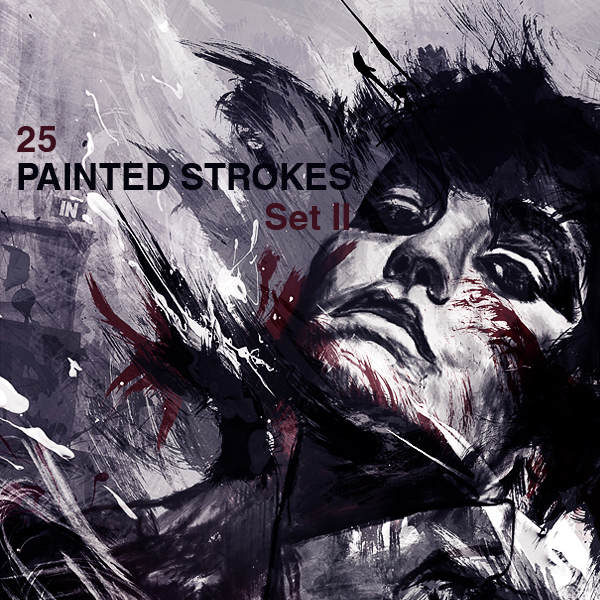 High-Res Paint Strokes: Set II