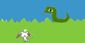 snake and bunny