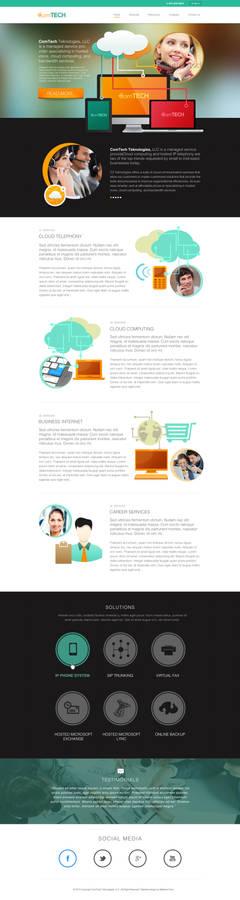 ComTech Free PSD Mockup Website Design