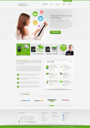 Free PSD ComTech_Green Landing Page Design