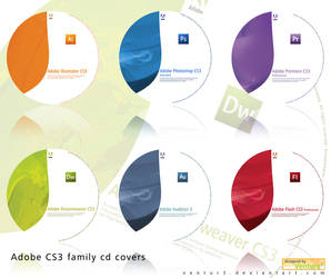 Adobe CS3 family cd labels by Ventur3