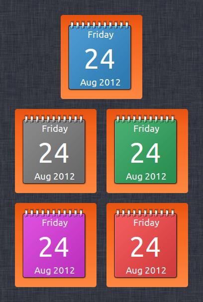Conky Calendar Widget by 1inux