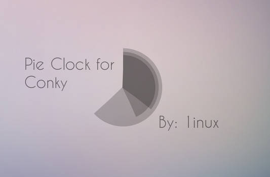 Pie Clock for Conky