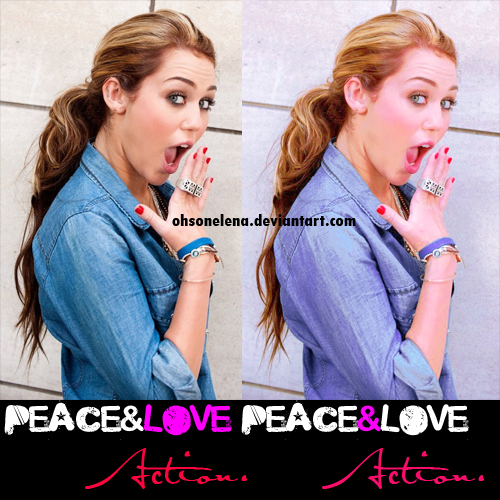 Peace and Love Action.