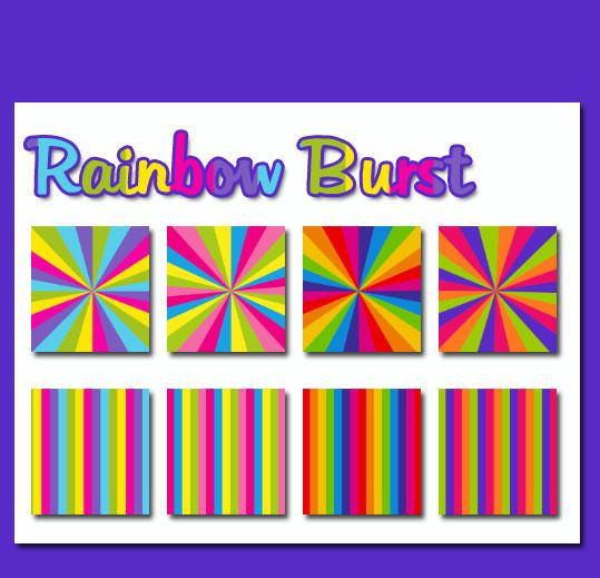 Rainbow Burst by powerpuffjazz