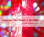 Coloured Red Bokeh + Sparkles