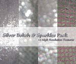 Silver Bokeh + Sparkles Pack