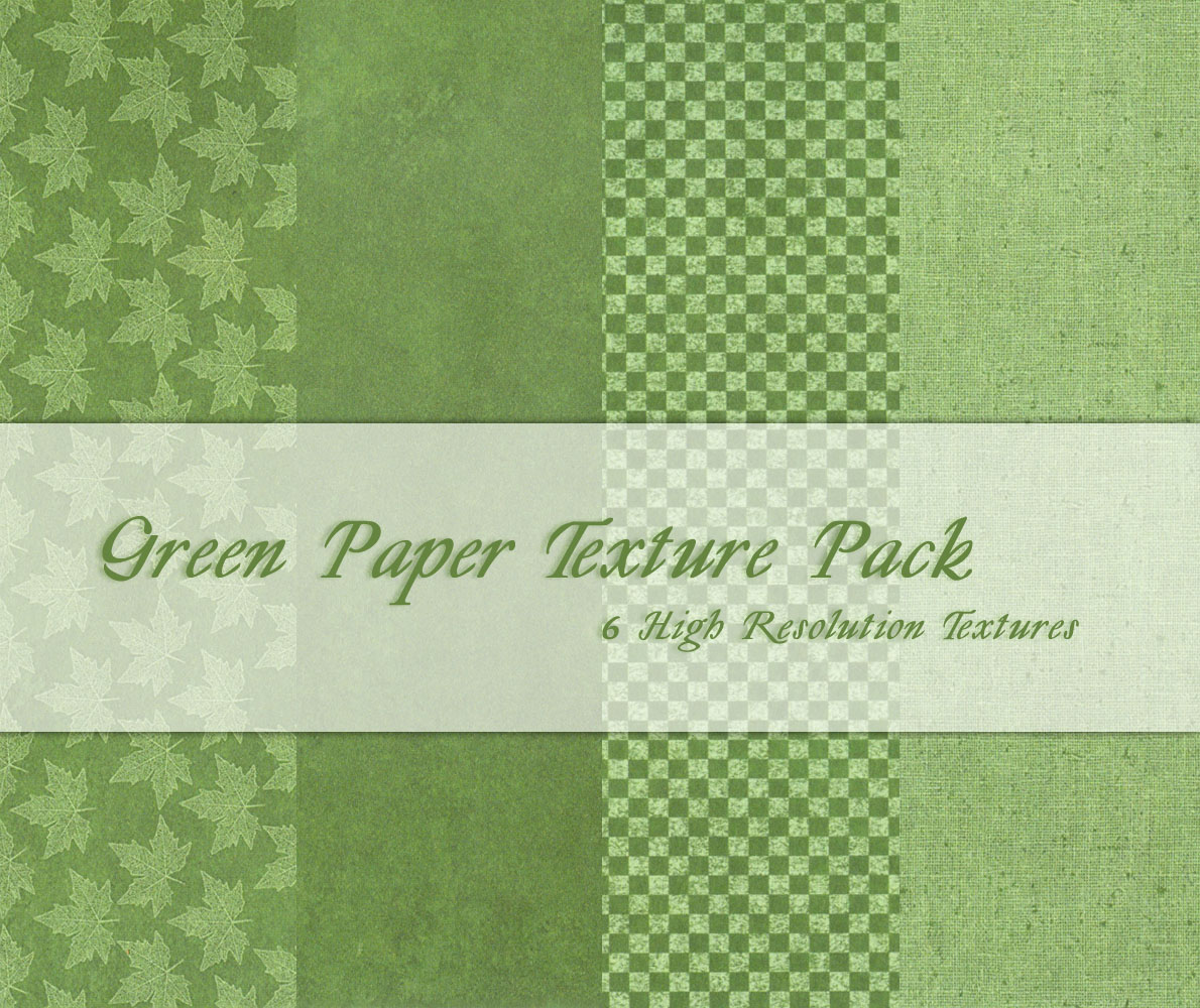 Green Paper Texture Pack
