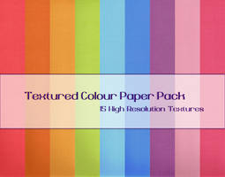 Textured Colour Paper Pack by powerpuffjazz