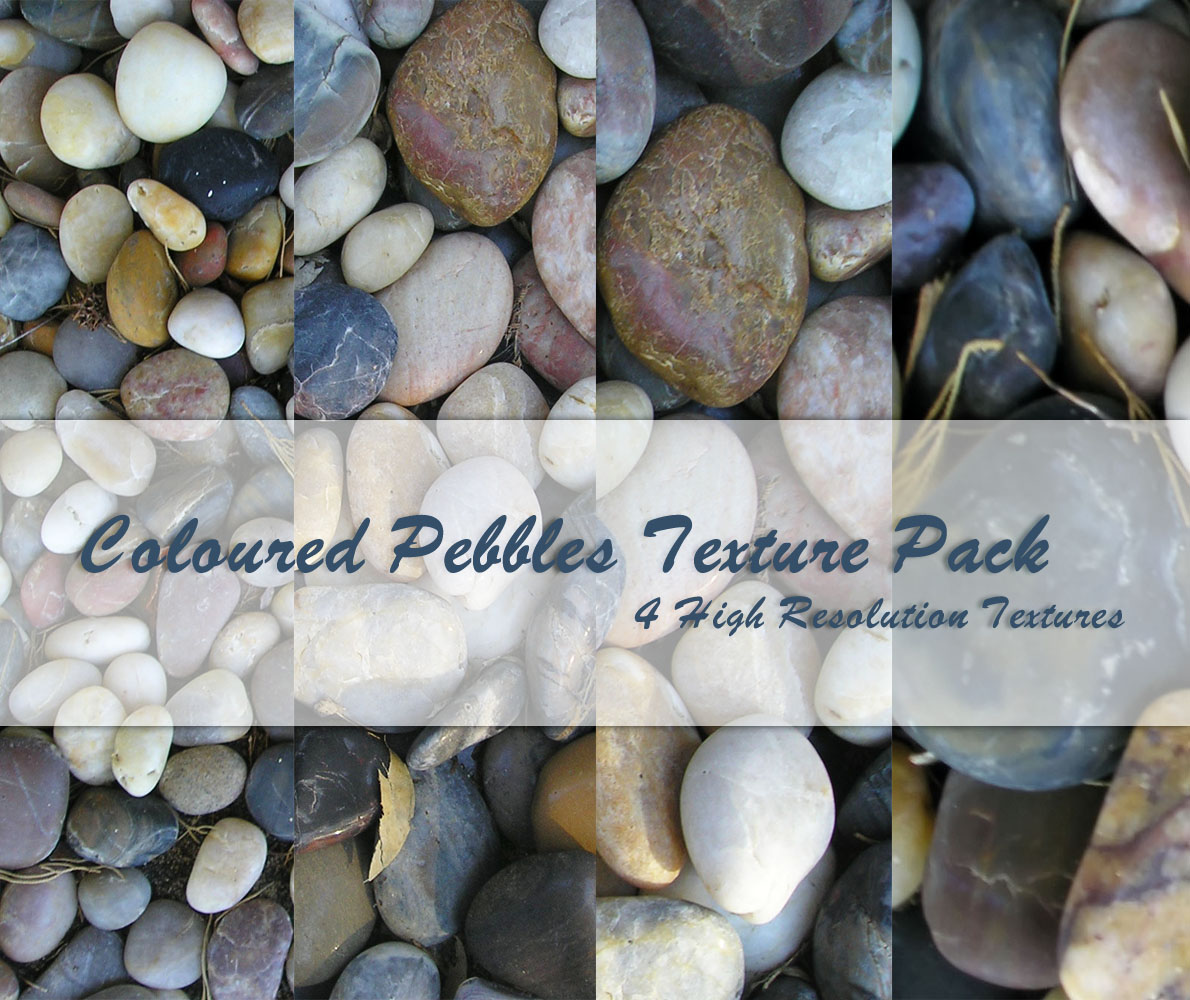Coloured Pebbles Texture Pack