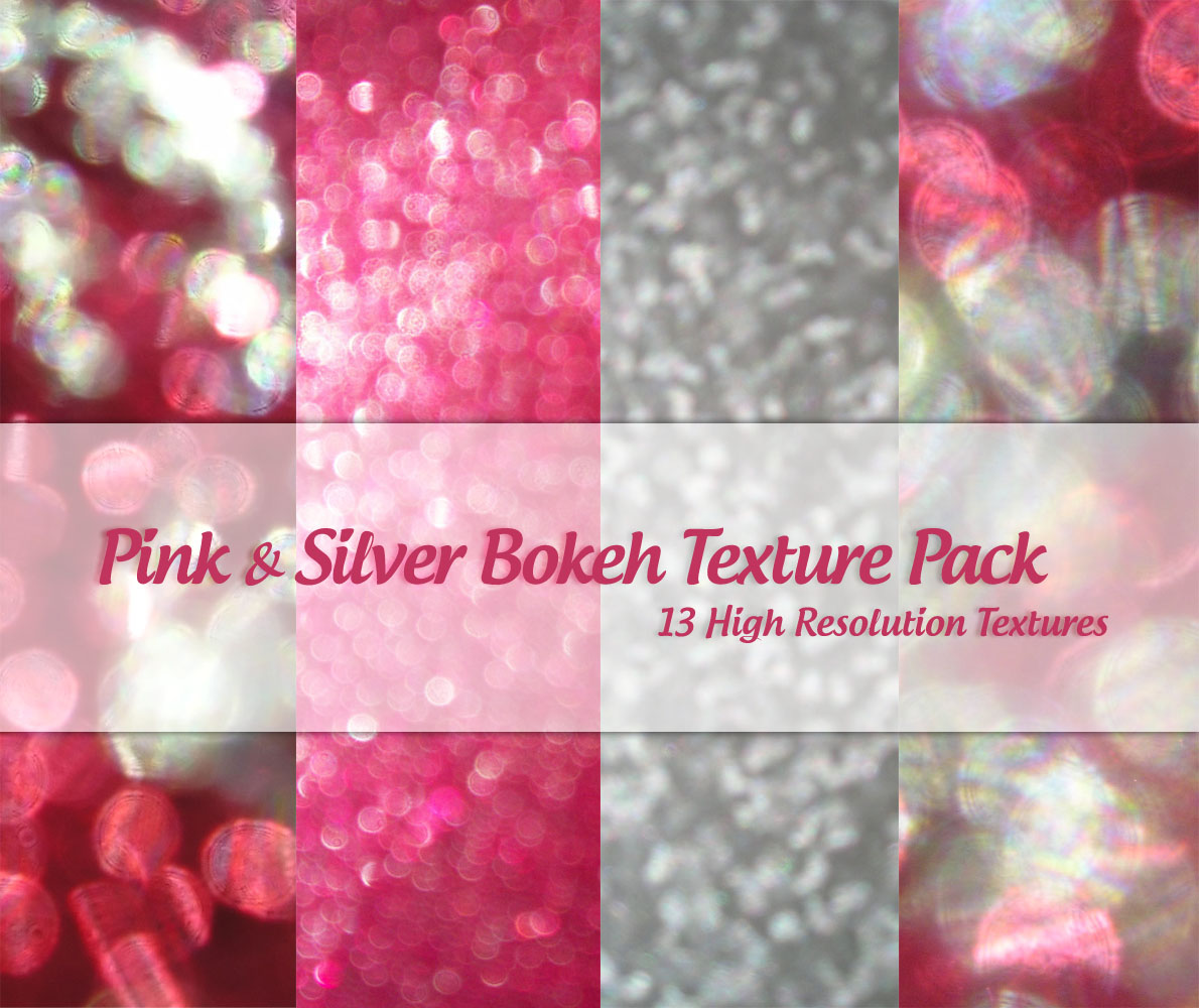 Pink and Silver Bokeh Pack by powerpuffjazz