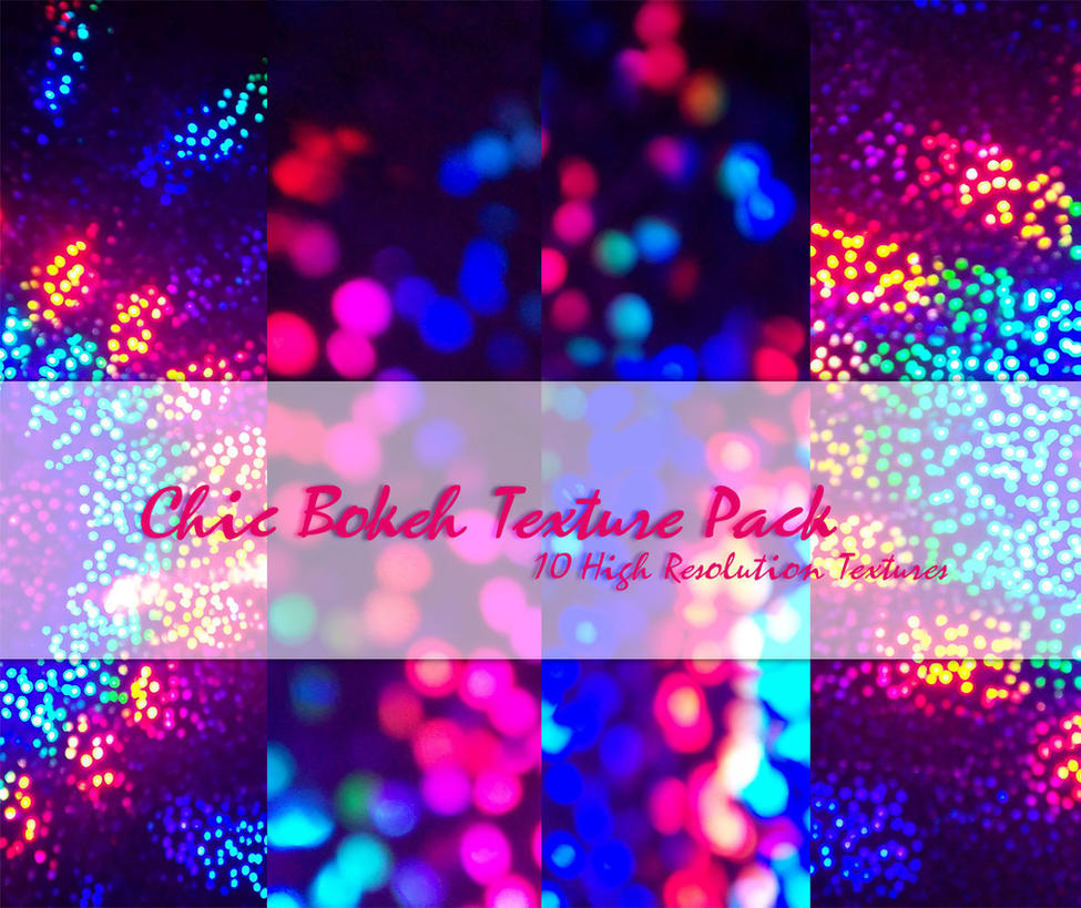 Chic Bokeh Texture Pack by powerpuffjazz