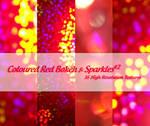 Coloured Red Bokeh + Sparkles2