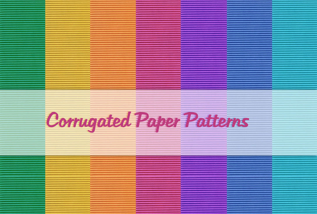 Corrugated Paper Patterns by powerpuffjazz