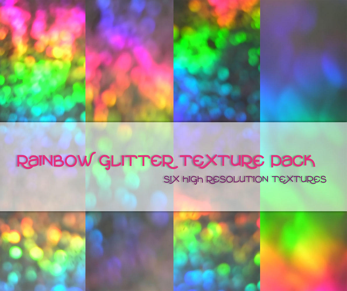 Rainbow Glitter Texture Pack by powerpuffjazz