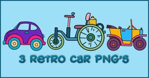 Retro Car PNGs by powerpuffjazz