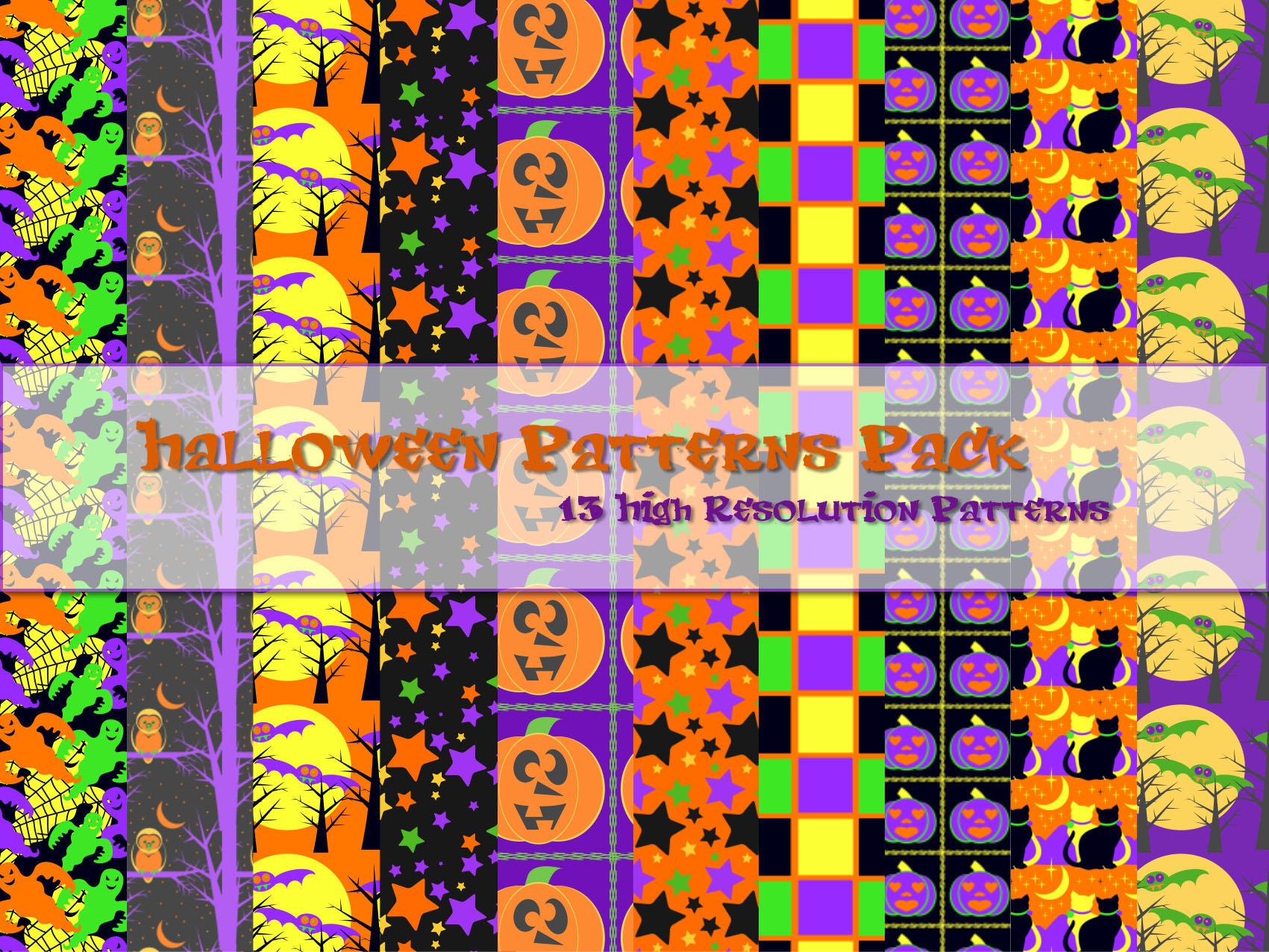 Halloween Patterns Pack by powerpuffjazz