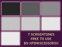 screentone pack 1 by xPinkScissorsx
