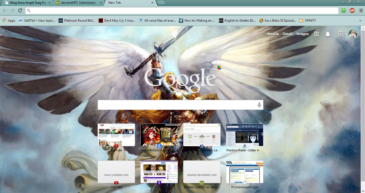 Google themes elsword - Serra Angel Google Chrome Theme By Ameliaroseguthrie