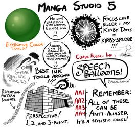 Manga Studio 5 Brushes by TheInkyWay