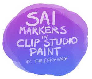 *ACTUAL* SAI Marker Tool for Clip Studio Paint