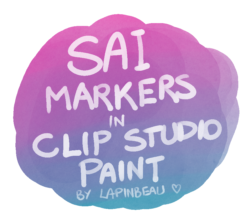 Actual Sai Marker Tool For Clip Studio Paint By Theinkyway