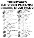 TheInkyWay's Clip Studio Paint Brush Pack 2