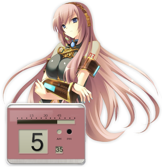 Megurine Luka Clock Rainmeter by Kaza-SOU