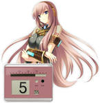 Megurine Luka Clock Rainmeter