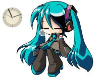 Hatsune Miku Clock 2 by Kaza-SOU