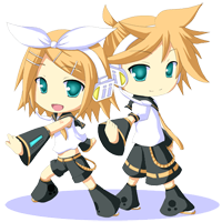 Kagamine Rin and Len Animated by Kaza-SOU
