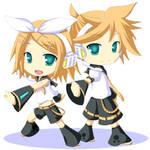 Kagamine Rin and Len Animated