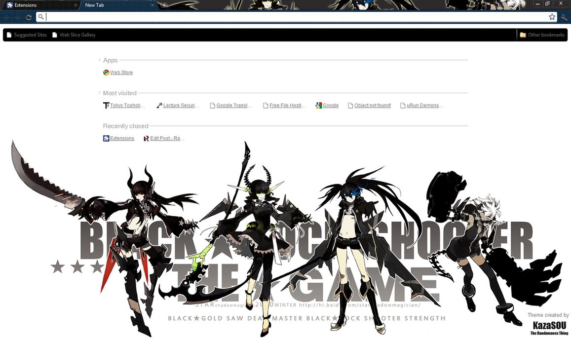 Google themes chrome anime - Black Rock Shooter 2 Crx By Kaza Sou