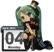 Hatsune Miku 4 Calendar
