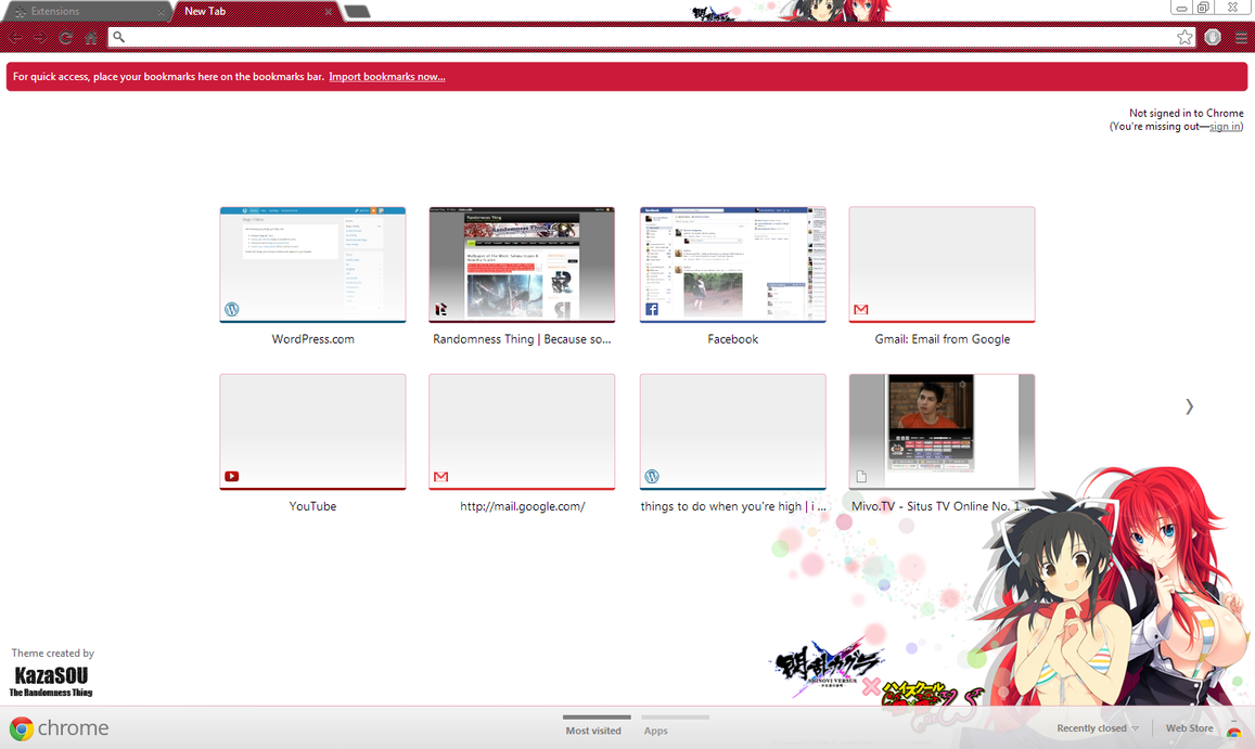 Google chrome theme gta v - Asuka X Rias Gremory Crx By Kaza Sou