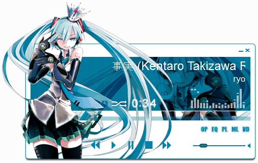 Hatsune Miku 5 Winamp By Kaza Sou On Deviantart