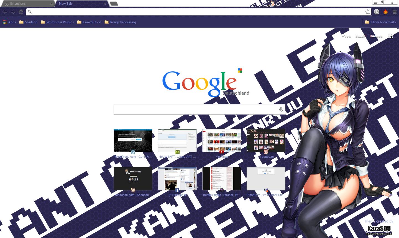Google chrome theme guilty crown - Tenryuu 2 Crx By Kaza Sou My New Theme For Google Chrome