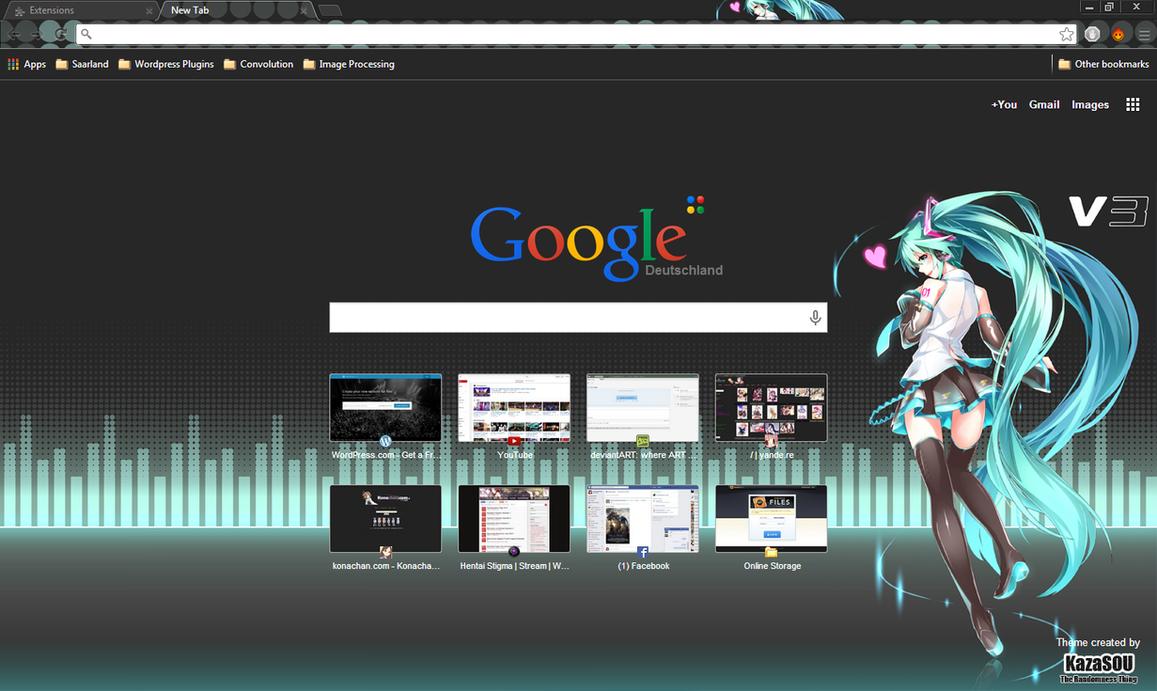 Google chrome theme infinite stratos - Hatsune Miku 13 Crx By Kaza Sou