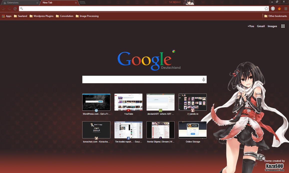 Google chrome theme infinite stratos - Sendai Crx By Kaza Sou