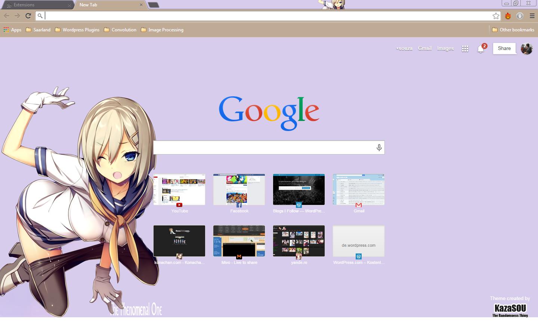 Google chrome themes tokyo ghoul - Hamakaze 2 Crx By Kaza Sou