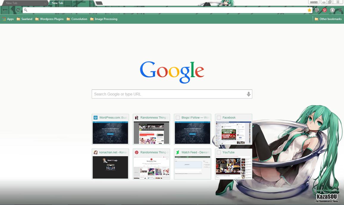 Google themes hatsune miku - Hatsune Miku 16 Crx By Kaza Sou