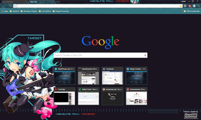 Google themes hatsune miku -  Hatsune Miku 17 Crx By Kaza Sou