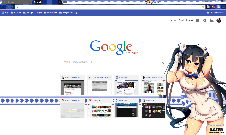 Google themes hatsune miku - Hestia 2 Chrome By Kaza Sou