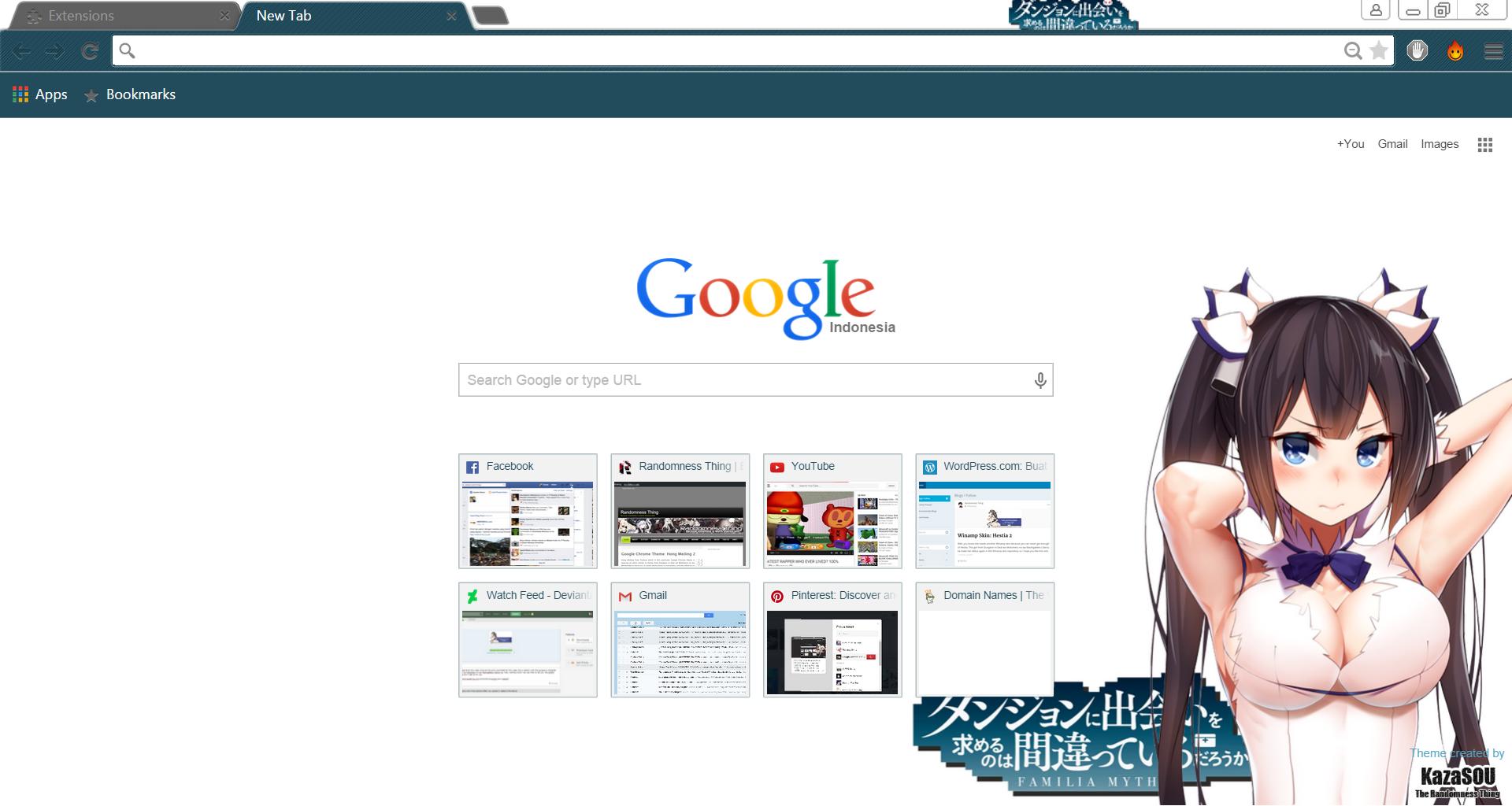 Google themes hatsune miku - Hestia 3 Chrome By Kaza Sou