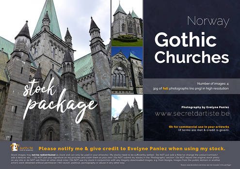 Stock package gothic churches Norway
