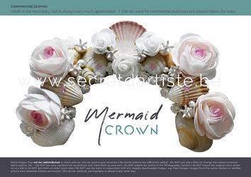 mermaid crown by secretdartiste-stock
