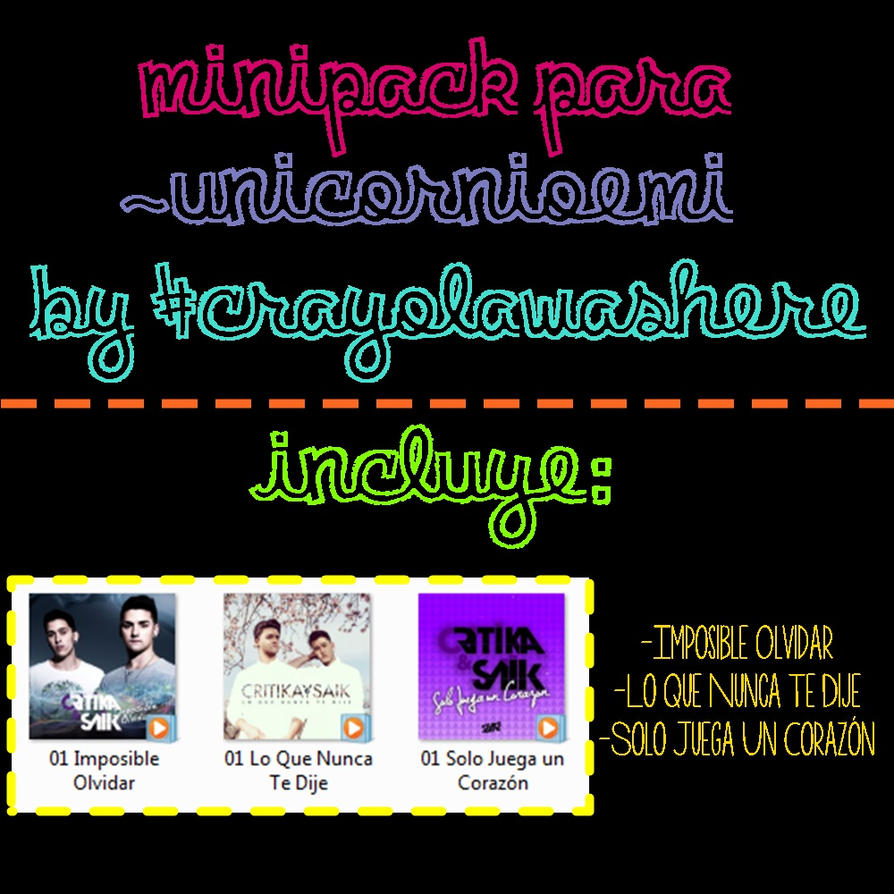 Minipack para ~UnicornioEmi by CrayolaWasHere