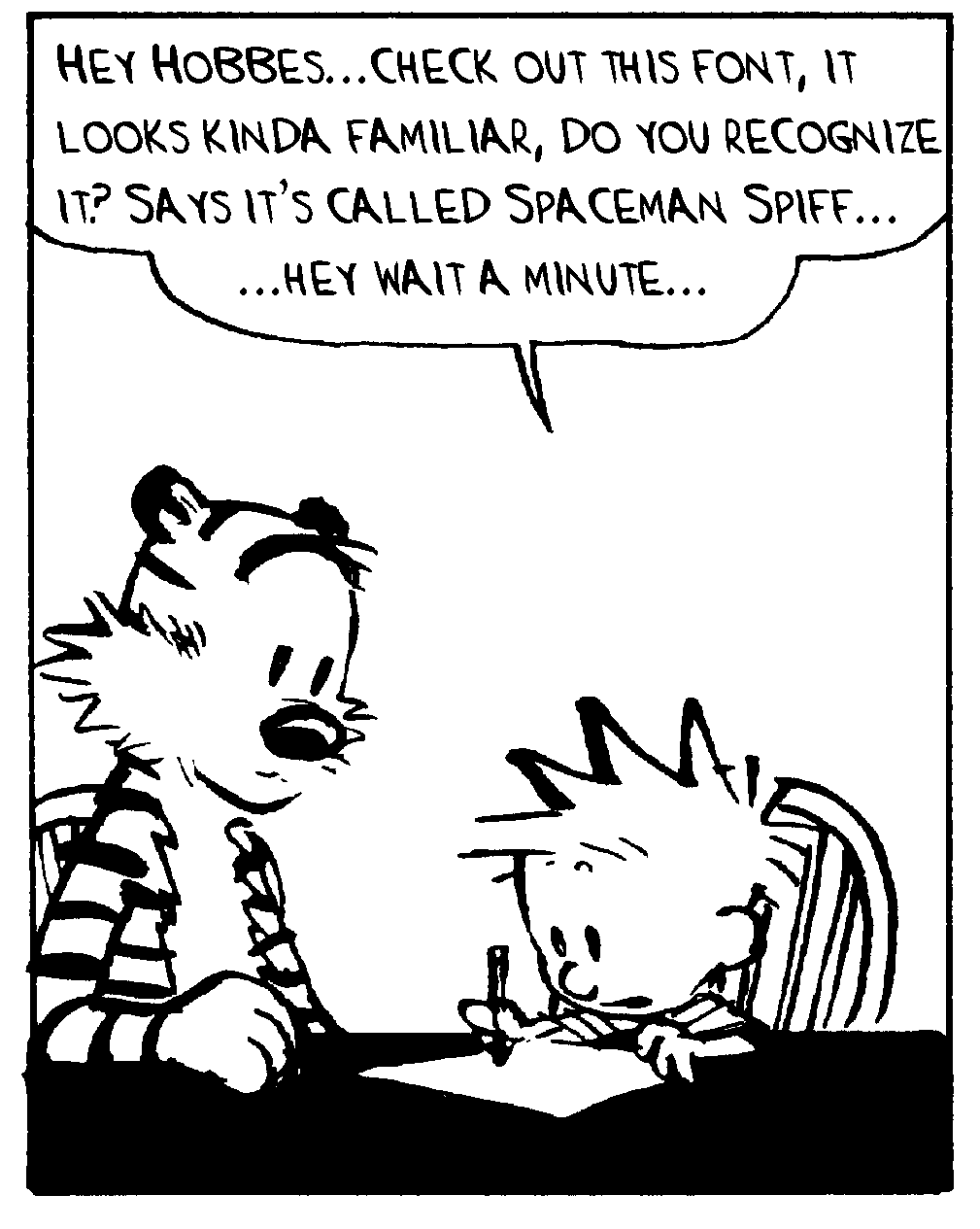 calvin and hobbes college essay