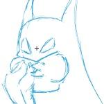 Batman Eats a Hotdog: WIP by El-Cid-84