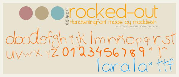 HandFont: Larala.ttf by oridzuru